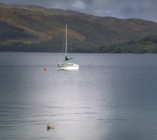 Sailboat on Lochlomand