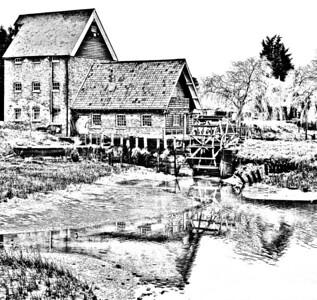 Sketch Battlesbridge Watermill