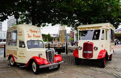 Old Icream Vans in Liverpool England